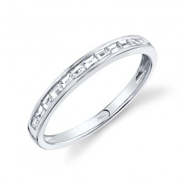 0.30ct 14k White Gold Diamond Baguette Lady