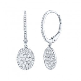 0.49ct 14k White Gold Diamond Earring