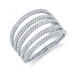 0.83ct 14k White Gold Diamond Pave Lady