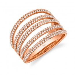 0.83ct 14k Rose Gold Diamond Pave Lady