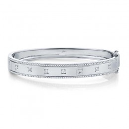0.55ct 14k White Gold Diamond Bangle