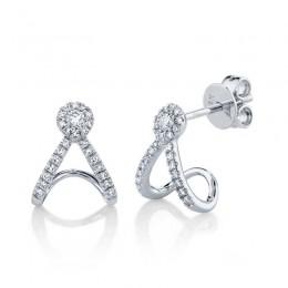 0.20ct 14k White Gold Diamond Earring