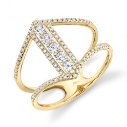 0.53ct 14k Yellow Gold Diamond Lady