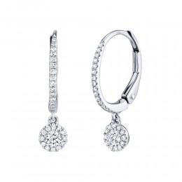 0.30ct 14k White Gold Diamond Earring