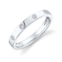 0.07ct 14k White Gold Diamond Lady