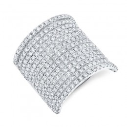 2.86ct 14k White Gold Diamond Pave Lady