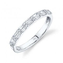 0.35ct 14k White Gold Diamond Baguette Lady