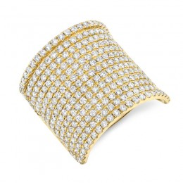 2.86ct 14k Yellow Gold Diamond Pave Lady