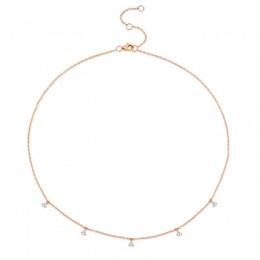 0.30ct 14k Rose Gold Diamond Necklace
