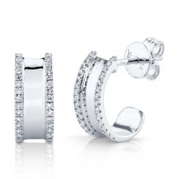 0.17ct 14k White Gold Diamond Earring
