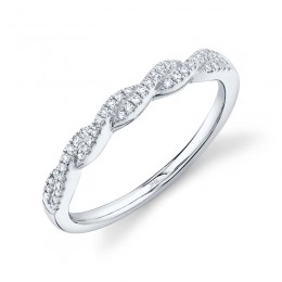 0.12ct 14k White Gold Diamond Lady