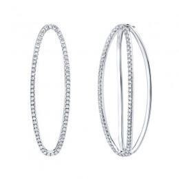 0.42ct 14k White Gold Diamond Earring