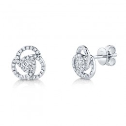 0.32ct 14k White Gold Diamond Stud Earring