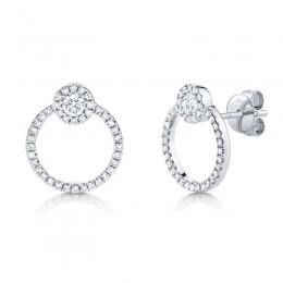 0.39ct 14k White Gold Diamond Earring