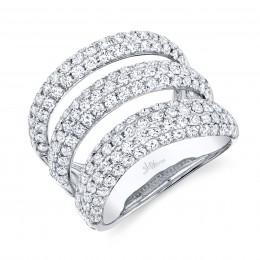 2.55ct 14k White Gold Diamond Pave Lady