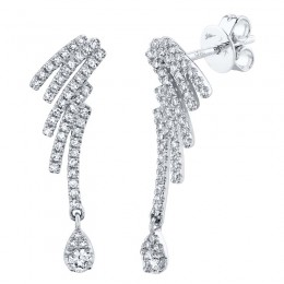 0.40ct 14k White Gold Diamond Earring