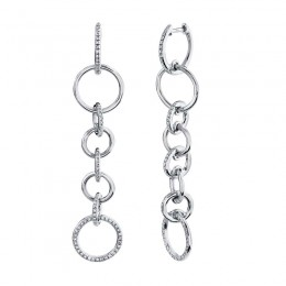 0.44ct 14k White Gold Diamond Circle Earring