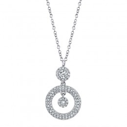 0.39ct 14k White Gold Diamond Necklace