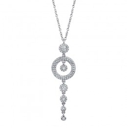 0.53ct 14k White Gold Diamond Necklace