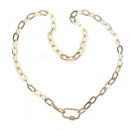 0.23Ct Diamond Paper Clip Link Necklace