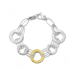 IPPOLITA Chimera Classico Mixed Wire & Hammered Bangle