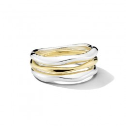 IPPOLITA Chimera Classico Triple-Band Squiggle Ring