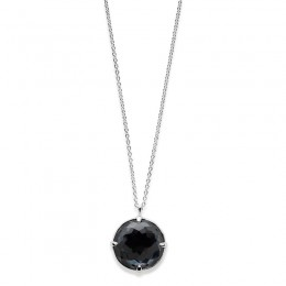 IPPOLITA Rock Candy® Medium Round Pendant Necklace in hematite