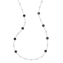 IPPOLITA Lollipop® Ball and Stone Station Necklace in Black shell