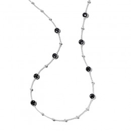 IPPOLITA Lollipop® Ball and Stone Station Necklace in hematite