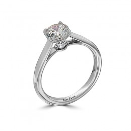 Eli Jewels Point of Love Round Solitaire Semi Mount