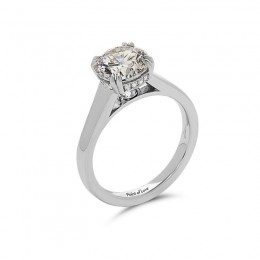 Eli Jewels Point of Love Round Diamond Set Solitaire Semi Mount