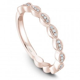 A Rose Gold Stackable Ring With 33 Round Diamonds, 13 Ctw. G/H, Si