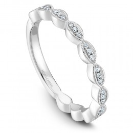 A White Gold Stackable Ring With 33 Round Diamonds, 13 Ctw. G/H, Si