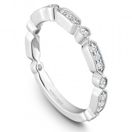 A White Gold Stackable Ring With 21 Round Diamonds, .26Ctw G/H, Si