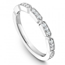 A White Gold Stackable Ring With 23 Round Diamonds, .23Ctw. G/H, Si.